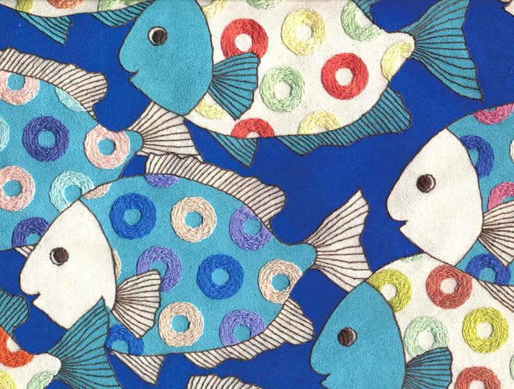 高嶺尚子の刺繍作品